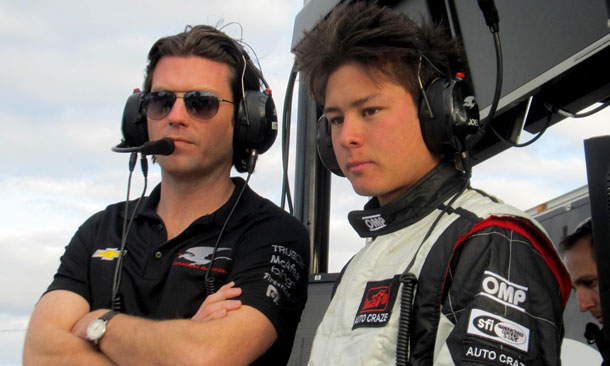 Sebastian Saavedra tests at Sebring