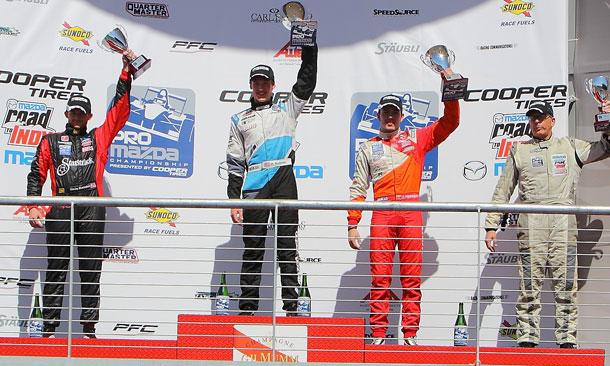 ProMazda COTA Race2 Podium