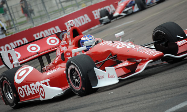 Scott Dixon in Turn 10 at St. Pete