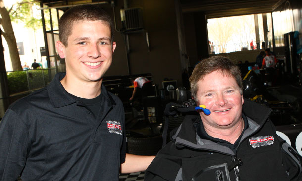 Kyle O'Gara with Sam Schmidt