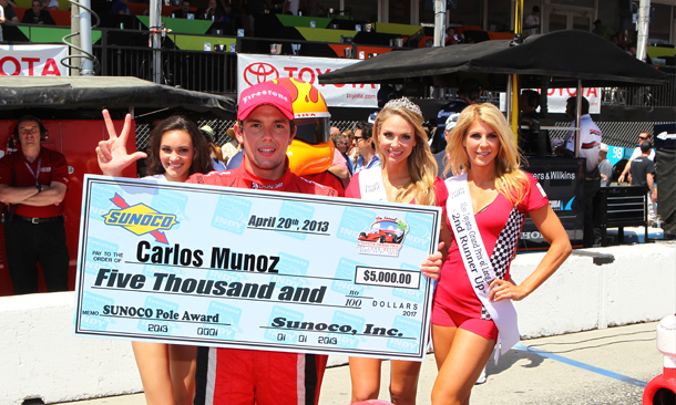 Carlos Munoz wins pole position in Long Beach