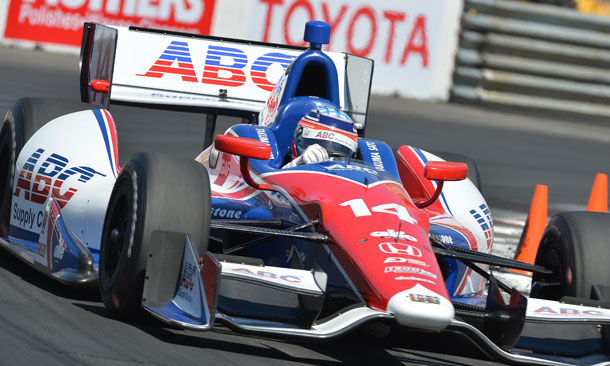 Takuma Sato at Long Beach