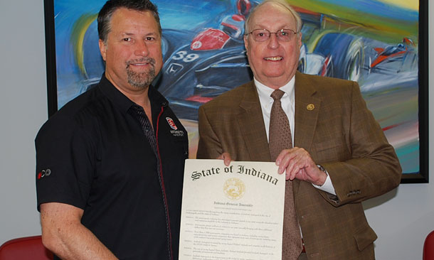 Michael Andretti - State of Indiana Award