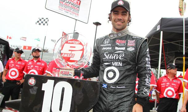 Dario Franchitti wins Verizon P1 Award for Race 1 in Detroit