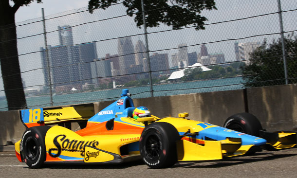 Mike Conway wins Chevrolet Indy Dual in Detroit - Race 1