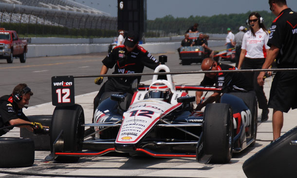Will Power tests at Pocono Raceway