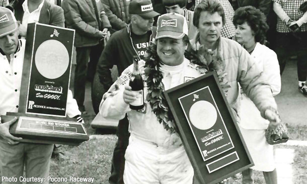 A.J. Foyt wins the 1979 Music 500 at Pocono Raceway