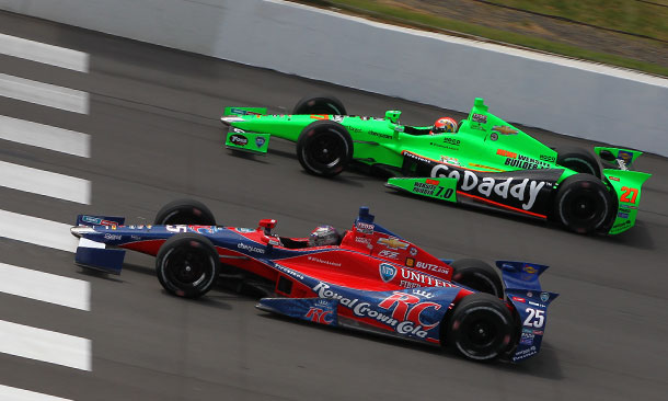 Marco Andretti and James Hinchcliffe at Pocono