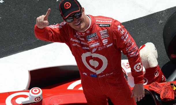 Scott Dixon in Pocono Victory Lane