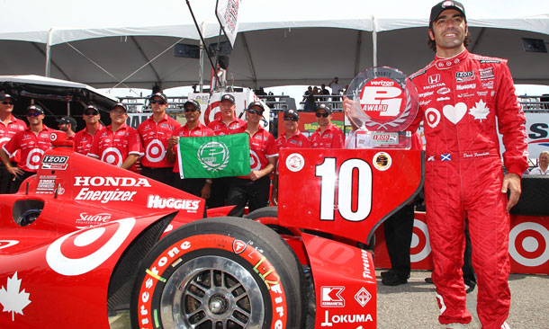 Dario Franchitti wins Verizon P1 Award for Race 1 of the Honda Indy Toronto