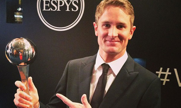 Ryan Hunter-Reay wins 2013 ESPY for Best Driver
