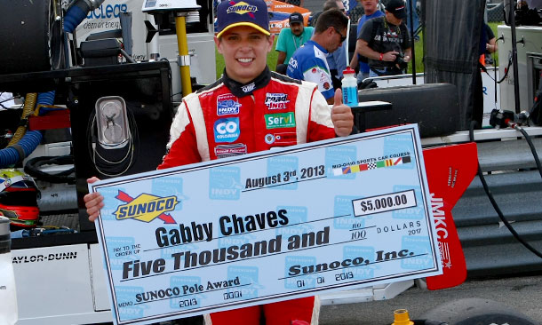 Gabby Chaves wins pole at Mid-Ohio