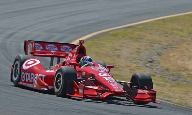 Dario Franchitti in Turn 6 at Sonoma