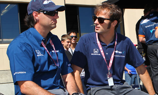 Bryan Herta and Luca Filippi at Sonoma