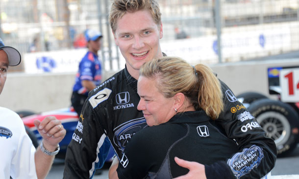 Josef Newgarden and Sarah Fisher