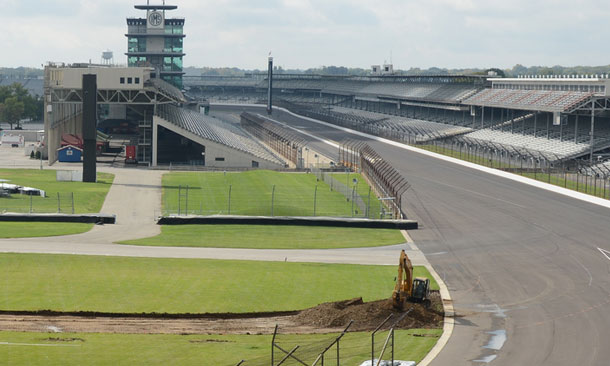 Construction begins at the Indianapolis Motor Speedway