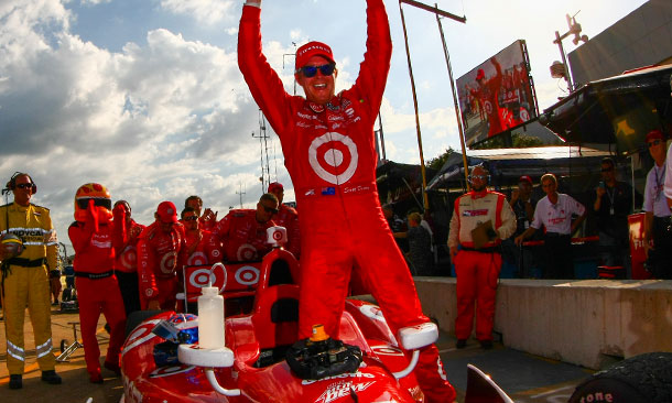Scott Dixon wins Race 1 in Houston
