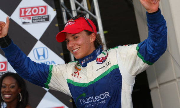 Simona De Silvestro in Houston (First Podium)