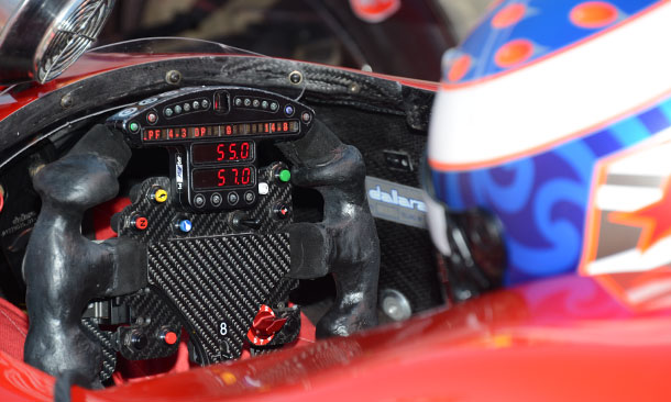 Scott Dixon's steering wheel