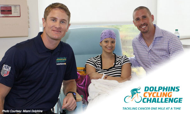 Ryan Hunter-Reay and Brett Hartline - Dolphins Cycling Challenge