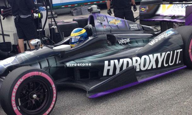 Sebastien Bourdais tests at Sebring