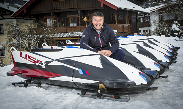 Veteran Indy Car racing engineer David Cripps is helping the U.S. Bobsled team in their quest to win the gold