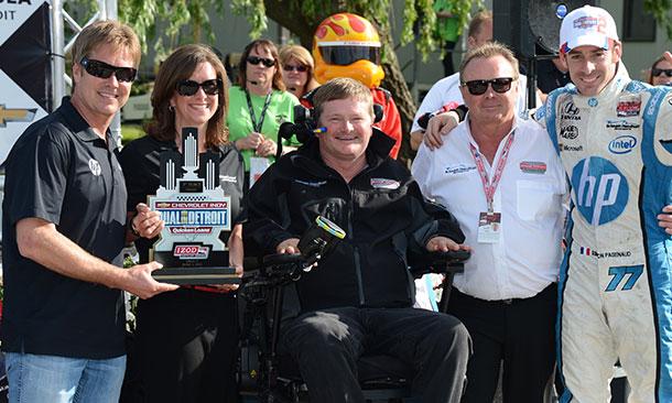 Davey Hamilton and the Schmidt team