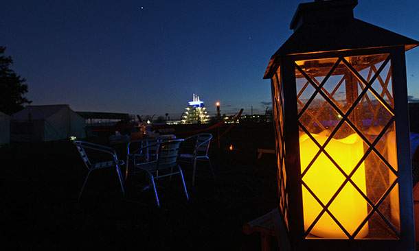 Glamping at the Indianapolis Motor Speedway