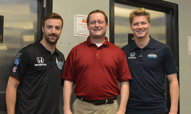 James Hincliffe and Josef Newgarden at NASA