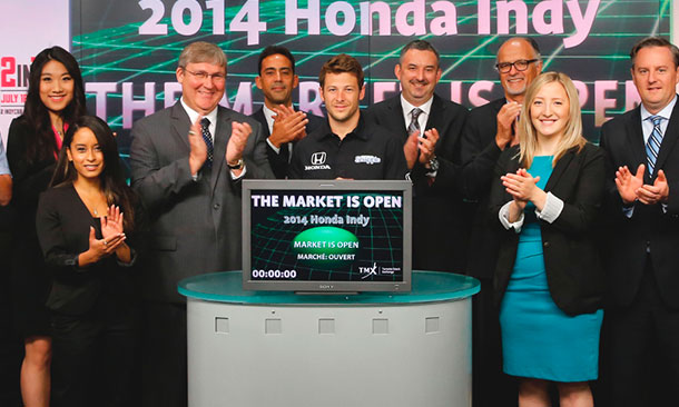 Marco Andretti at Canadian Stock Exchange