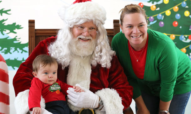 Santa Claus and Sarah Fisher