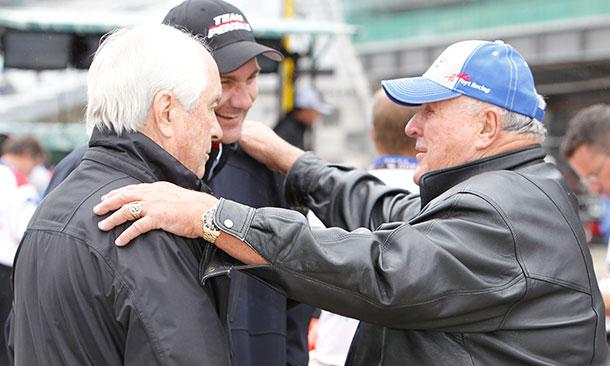 A.J. Foyt, Roger Penske, and Tim Cindric