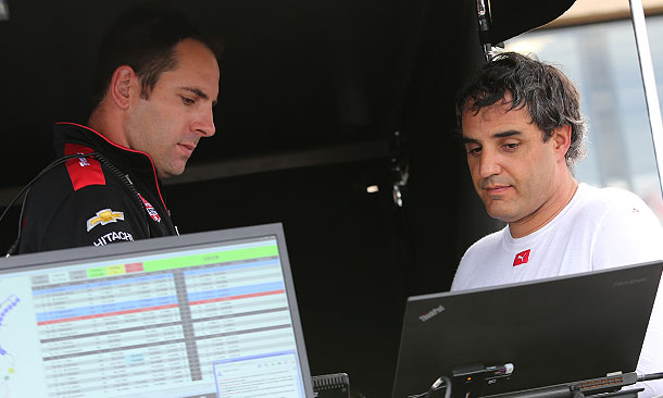 Brian Campe (sinistra) e Juan Pablo Montoya. indycar.com