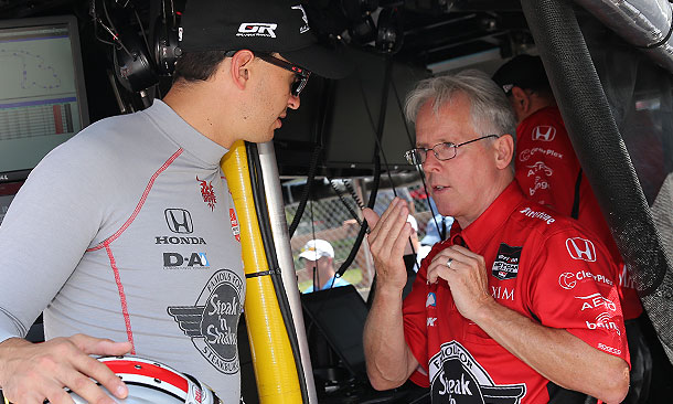 Eddie Jones con Graham Rahal. Indycar.com