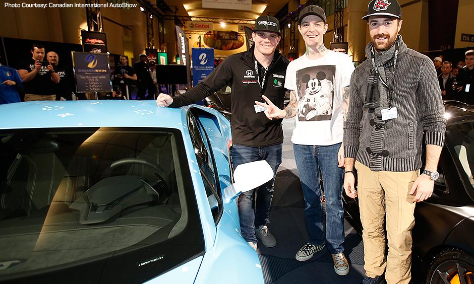 Conor Daly, Deadmau5, and James Hinchcliffe