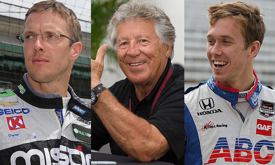Mario Andretti, Sebastien Bourdais, and Jack Hawksworth