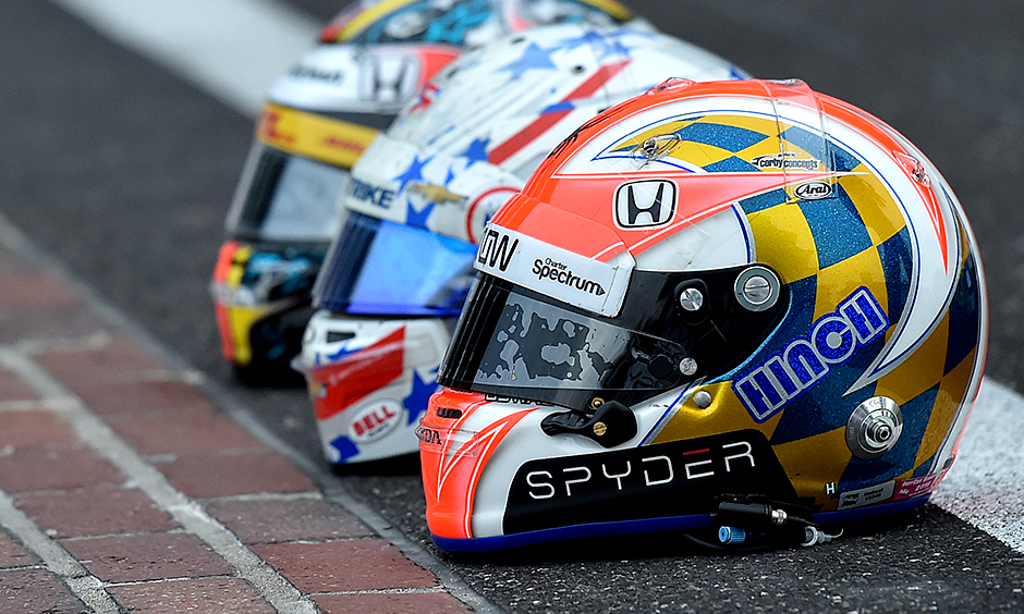 INDYCAR drivers take their helmet designs personally