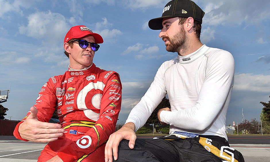 Scott Dixon and James Hinchcliffe