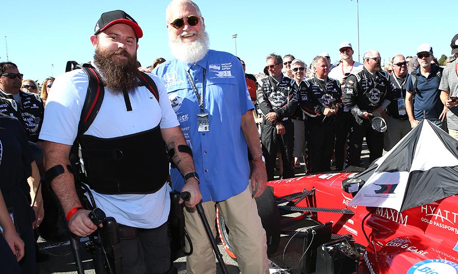 Sgt. Dan Rose and David Letterman