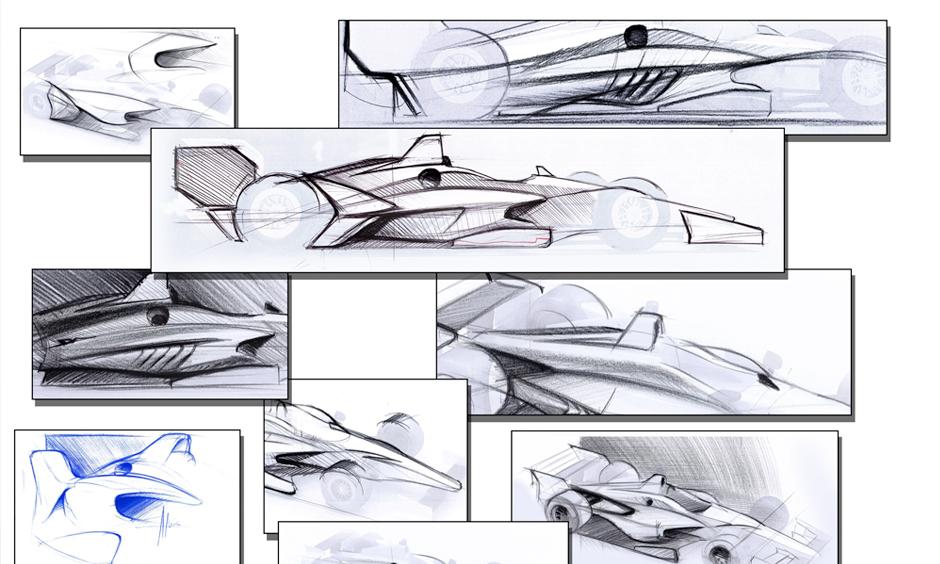 2017 Verizon IndyCar Series 01-12-New-2018-Car-Concept-Sketches