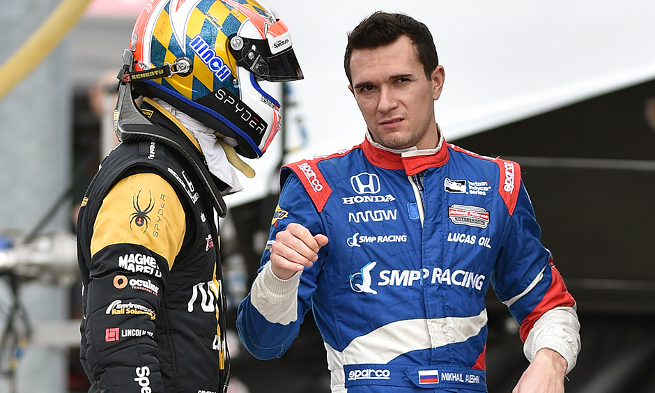 James Hinchcliffe and Mikhail Aleshin