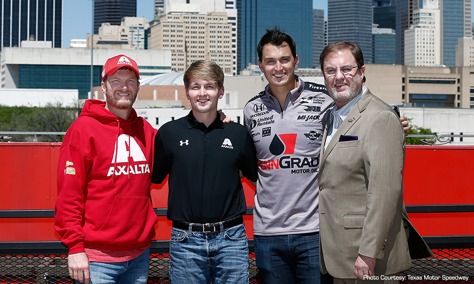 Dale Earnhardt Jr., William Byron, Graham Rahal, and Eddie Gossage