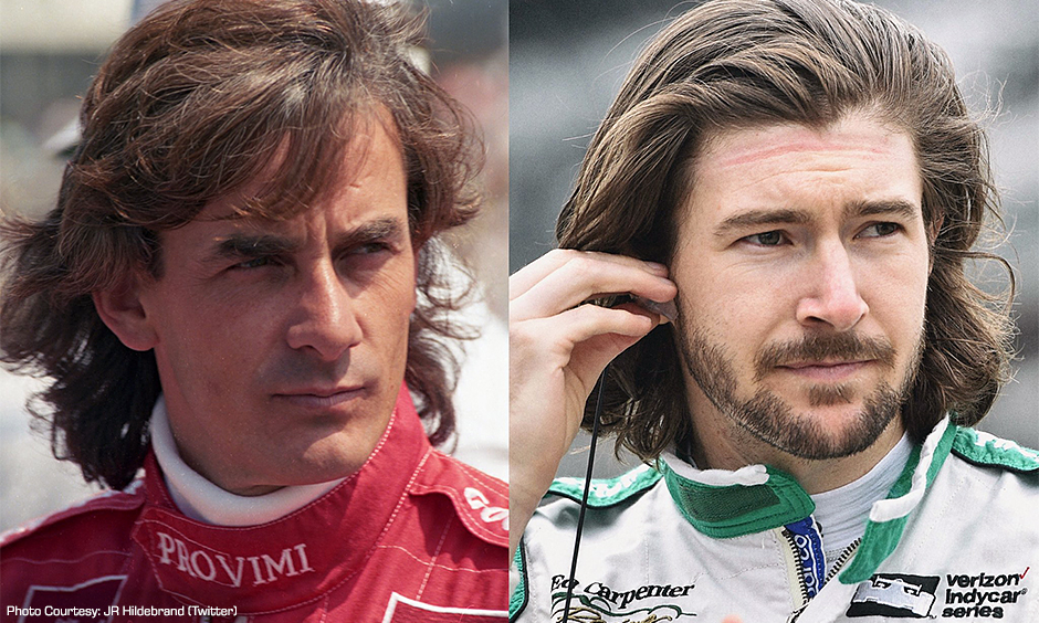 Arie Luyendyk and JR Hildebrand