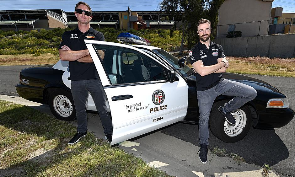 Ryan Hunter-Reay and James Hinchcliffe