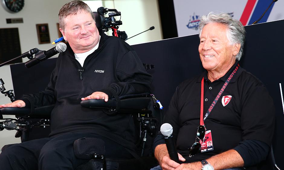 Sam Schmidt and Mario Andretti