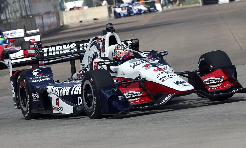 Rahal drives to dominant win in first of Belle Isle doubleheader