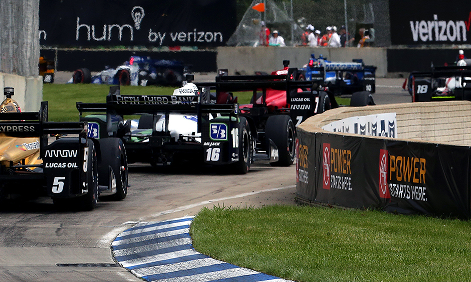 Graham Rahal wins 1st of 2 Detroit Grand Prix IndyCar races