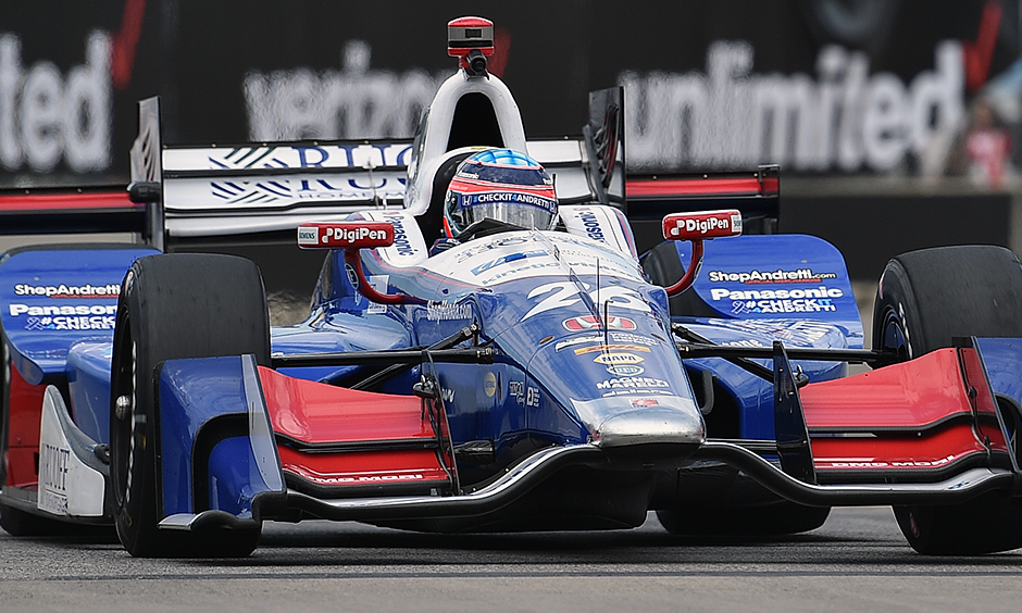 Sato keeps rolling with pole position for second race at Belle Isle