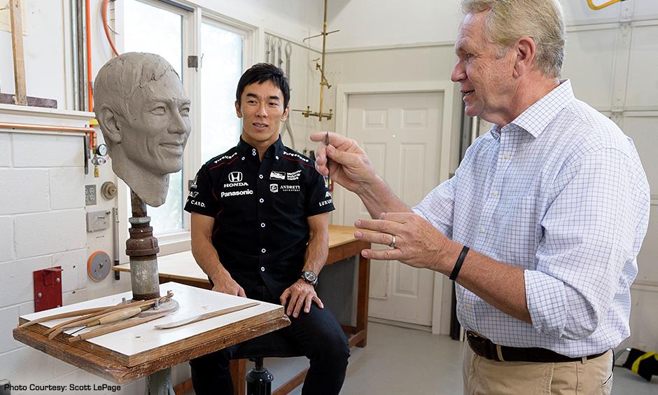 Takuma Sato and Will Behrends