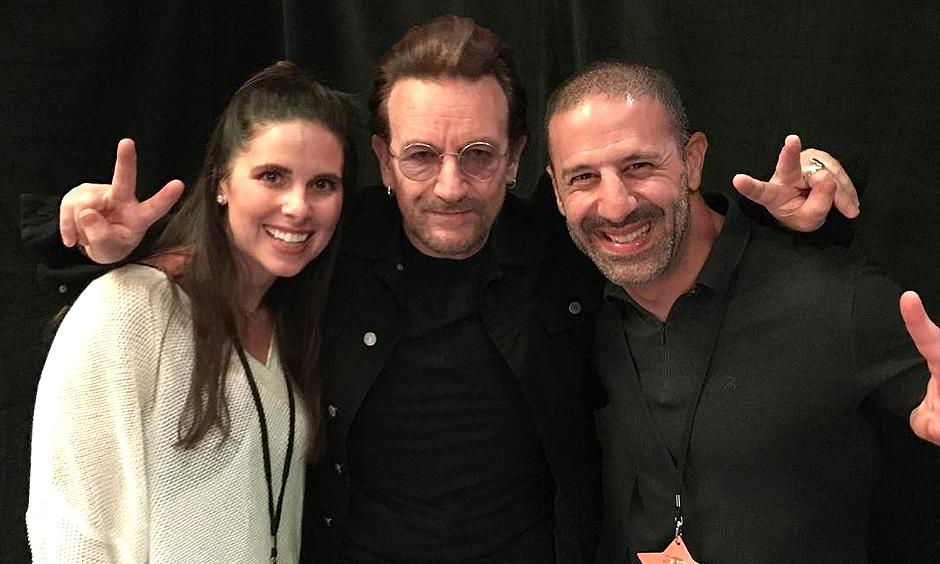 Lauren Kanaan, Bono, and Tony Kanaan
